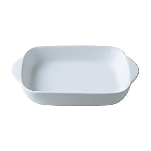 White Small Ceramics Rectangular casseroledish Baking Dishes with Handle for Oven Ceramic Baking Pan Lasagna Casserole Pan Individual Bakeware 9x5 inch