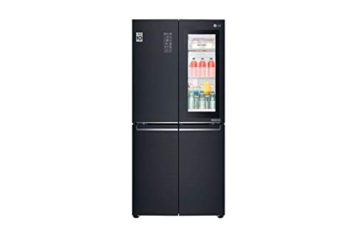 LG GMQ844MCKV Multi Door Side-by-Side - No Frost - Multi Airflow System - 458 Liter, Matt Schwarz - A+