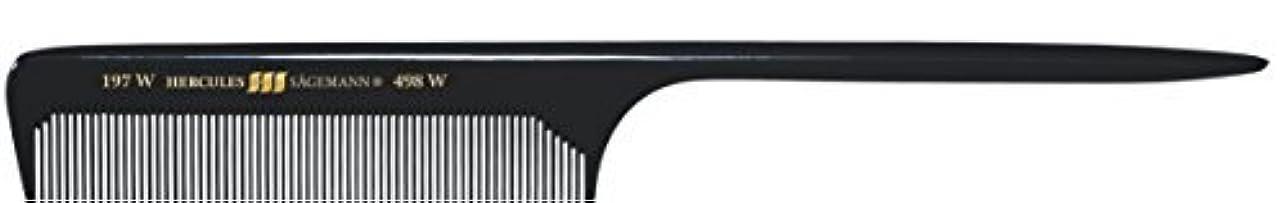 スキッパー立ち寄る従うHercules S?gemann Long Rounded Tail Hair Comb with wide teeth 8?