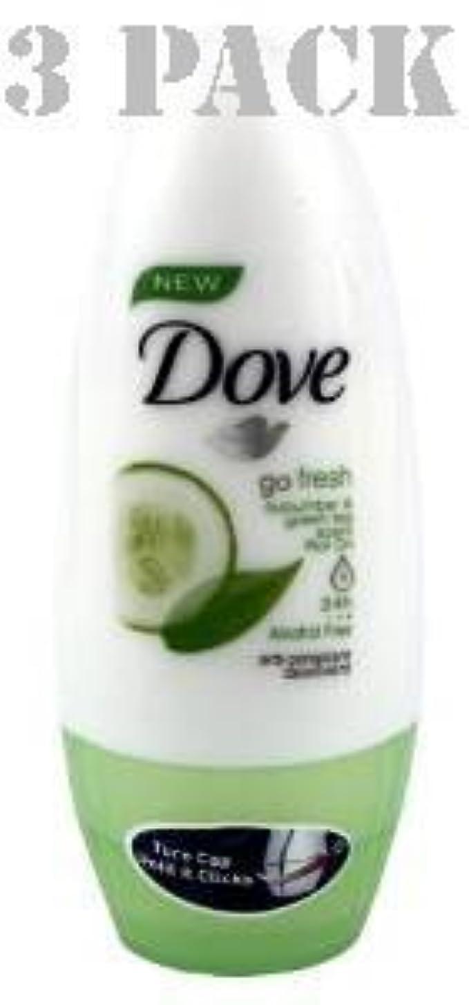 メリー電化するマーティンルーサーキングジュニアDove Antiperspirant Deodorant Roll on Go Fresh Cucumber & Green Tea 40 Ml 3 PK by UNILEVER [並行輸入品]