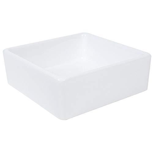Lavabo de cerámica cuadrado moderno Lavabo de encimera Mano de obra estándar Suministros de baño para cocina