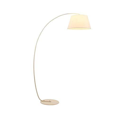 Vloerlamp, Modern Zwart Wit Arc Vissen Stof Lampenkap Lezen Luminaire Staande Licht Kleur: wit