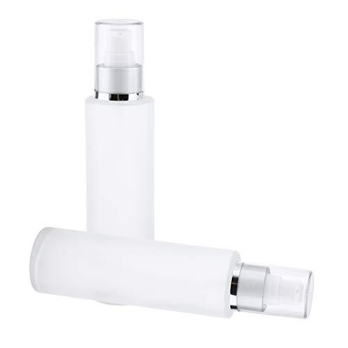 Colcolo 2x Botella de Recarga Vacía Lociones Dispensador de Bomba de Suero Contenedor de Almacenamiento de Viaje - Cabeza de bomba