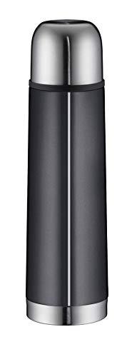 alfi 5457.268.050 Isolierflasche Isotherm Eco, Edelstahl Schiefer, 0,5 Liter, Drehverschluss, 12 Stunden heiß, 24 Stunden kalt, BPA-Free