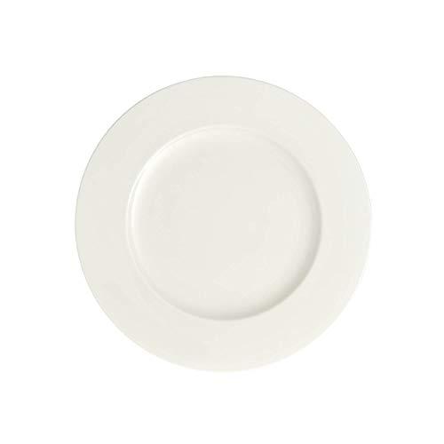 Villeroy & Boch Royal Großer Frühstücksteller, 24 cm, Premium Bone Porzellan, Weiß