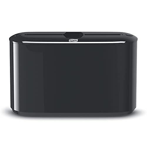 Tork 302028 Xpress Countertop Multifold Hand Towel Dispenser, Plastic, 7.92' Height x 12.68' Width x 4.56' Depth, Black, for Use with Tork MB550A, MB640, MB540A, H2/H23