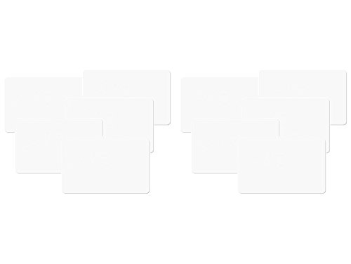 NFC Tag Karten 215 wie u. a. in Amiibo Figuren, 10 Stück in weiß, kompatibel mit Allen NFC Smartphones, NXP NFC Chip NTAG 215