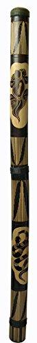 Roots ZF Didgeridoo Bambus geschnitzt braun