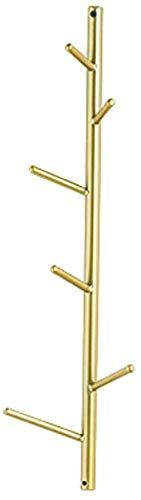 XWYYMJ Kleiderablage Wandgarderobe Aufhänger kreative Wanddekoration Metall Baum Kleiderständer Gold 2 Größen for Schlafzimmer Badezimmer und auf den Fluren Y6M8J3 (Größe : 6 Hooks)