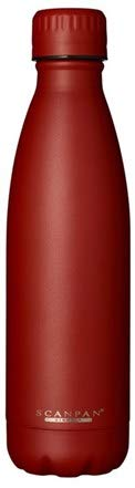 Scanpan Reynolde Red TO GO - Botella térmica (500 ml, sin BPA, 24 horas de refrigeración y 12 horas de calor, acero inoxidable)