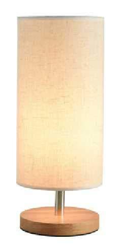 Lamparas de mesa de noche LED creativo simple tela de lino atenuación lámpara de mesa de madera maciza dormitorio lámpara de noche moderna lámpara de mesa pequeña cálida