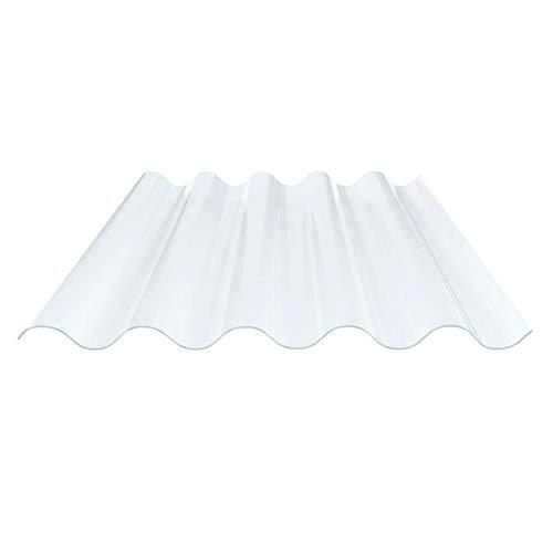 Lichtplatte | Wellplatte | Lichtwellplatte | Profil 177/51 | Material PVC | Breite 920 mm | Länge 1,25 m | Stärke 1,4 mm | Farbe Klarbläulich