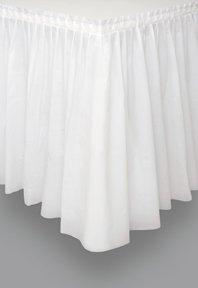 Jupe de table en plastique blanc 73 x 426 cm - taille - Taille Unique - 209891