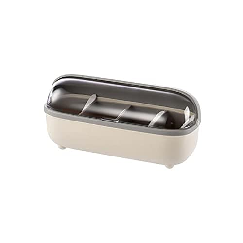 Spice Box Four Compartment Creatment Spice Box,met lepels,geschikt voor keuken.1 stuk Kruiden potten WSYGHP (Color…