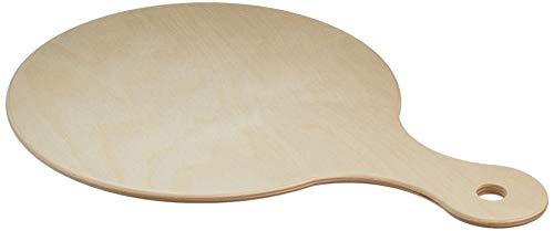 DEMOLLI FSC-10454 Tagliere con Manico per Pizza, Polenta, Aperitivi, Legno Faggio, Naturale