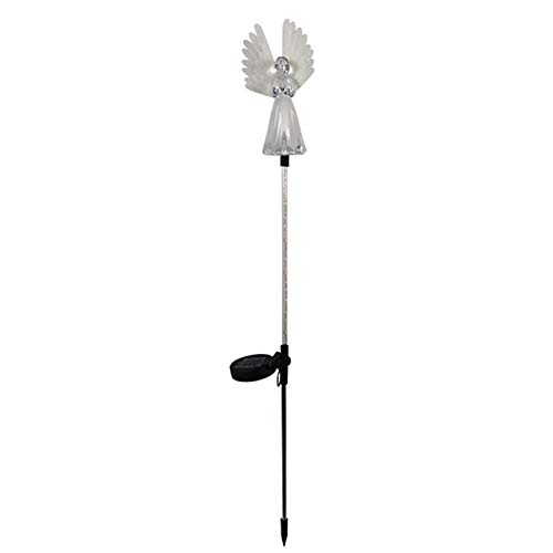 Lámpara de ángel impermeable con energía solar para exteriores, jardín, patio, patio, decoración de luces