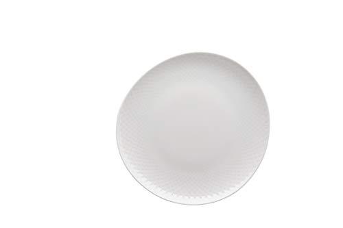 Rosenthal 10540-800001-10862 Junto« Teller flach, Länge: 220 mm, Breite: 210 mm, weiß, Porzellan