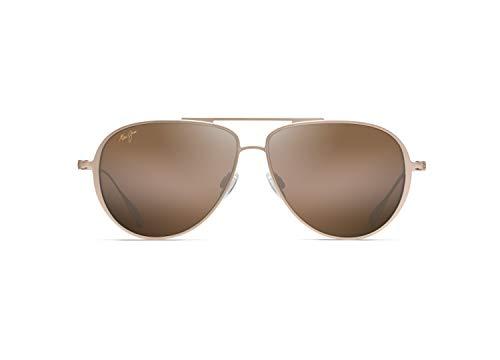 Maui Jim gafas de sol | Shallows H543-16 | Montura de titanio color dorado satinado. Lentes polarizadas HCL Bronze