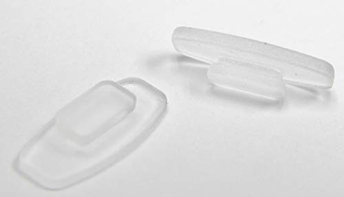 Hochwertige Weiche Silikon Nasenpads Rechteckig Einschieben Eindrücken Nasenpads - 11 mm 3 Paare, 5 Paare oder 10 Paare - Größe 10,4 mm x 6 mm für Sonnenbrillen Brillen von Sports World Vision