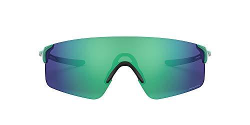 Oakley Gafas de sol rectangulares Oo9454a Evzero Blades para hombre, Celeste/Prizm Jade, 38 mm
