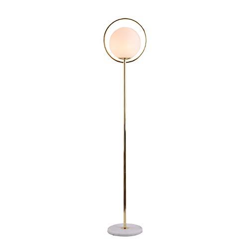 Zzh LED Stehlampe E27 Stehleuchte Moderne Marmorfuß mit Fußschalter am Kabel Standleuchte fur Wohnzimme und Schlafzimmer, Leseleuchte Bodenlampe