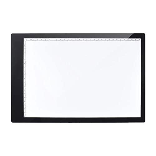 WanuigH Tablero de Copia LED A4 LED Copia De Copia Diseño Estribero Diseño De 15 Pulgadas Pantalla De Luz De Luz Ligero y Portátil (Color : Black, Size : US)