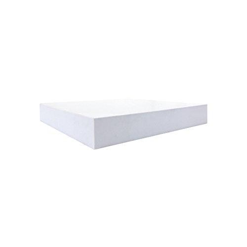 Rebecca Mobili 2er Set Hängeregale in Weiß, Wandboard Wandregal modern, aus Holz, Kinderzimmer Wohnzimmer – Maße: 3,8 x 25 x 25 cm (HxLxB) - Art. RE6063