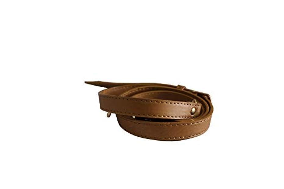 HinLot Long PU Purse Belt Replacement Shoulder Bag Strap Adjustable with Gold Hardware (Brown)