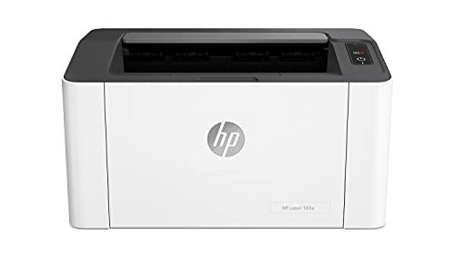 HP Laser 107w 4ZB78A, Impresora Láser Monofunción Monocromo, Impresión a Doble Cara Manual, Wi-Fi, USB 2.0 de alta velocidad, HP Smart App, Apple AirPrint, Panel de control LED, Blanca ✅