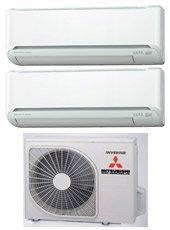CLIMATIZZATORE MITSUBISHI HEAVY INDUSTRIES DUAL SPLIT DC Inverter Hyper 7000+9000 con SCM 40 ZJ-S