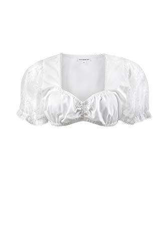 Stockerpoint Damen Regular Fit Trachtenbluse B - 1035, Weiß (Weiß), 36