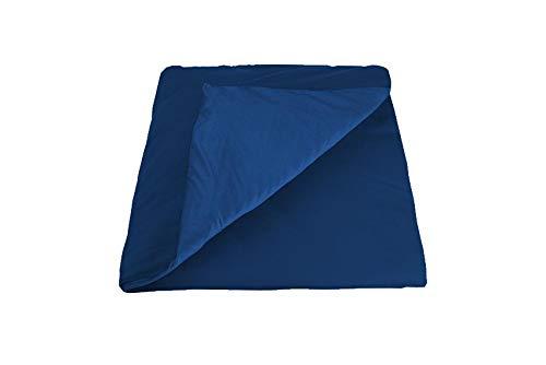 GRAVITY TherapieDecke Gewichtsdecke - Blauer Kühlender Sommerbezug für Erwachsene/Jugendliche Für besseren Schlaf, Größe: 135x200 cm