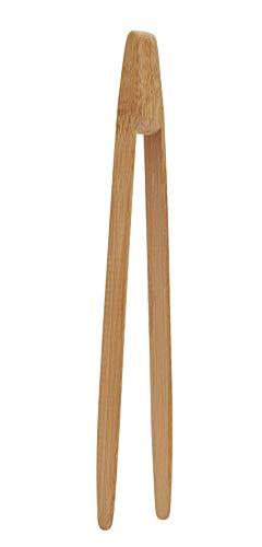 Pebbly NBA001 - Pinza de tostadas, bambú, 24 cm