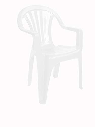 RESOL Nuevo Pals Set 4 Sillas de Plástico con Reposabrazos Ligera y Apilable para Eventos y Reuniones en Exterior o Interior | Jardín, Terraza, Patio | Fácil Mantenimiento y Filtro UV - Color