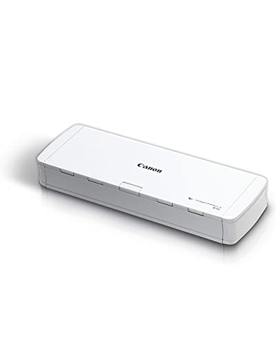 Canon imageFORMULA R10 Portable Document Scanner, 2-Sided Scanning with 20 Page Feeder, Easy Setup For Home or Office, Includes Software, (4861C001) (Renewed)