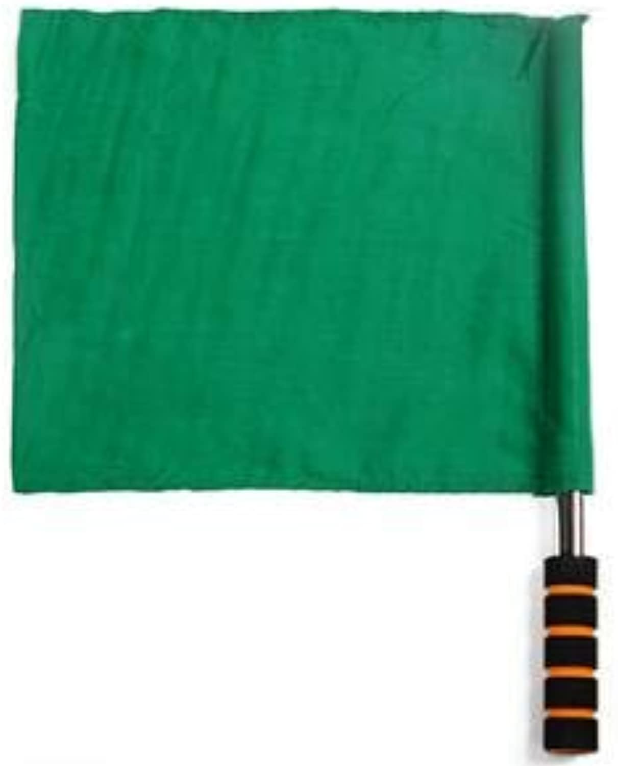 Free Shipping Retail 1piece Four colors for Choose Sports Plain Champion Flag Training Referee Soccer Flags Command Flag   Green