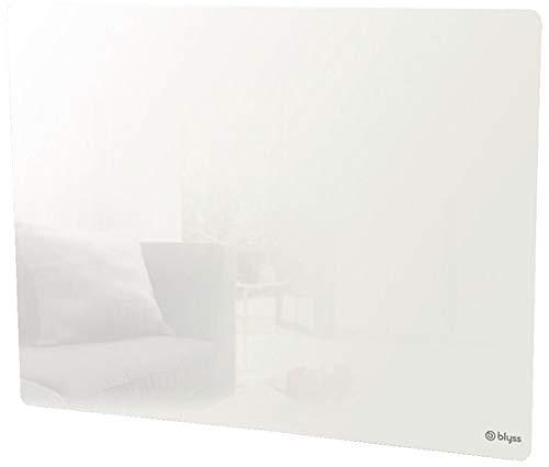 radiateur chauffage electrique Panneau rayonnant blanc Tavua 1000 W verre mural
