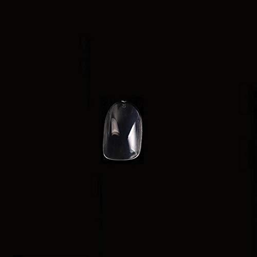 500 unids / bolsa 10 tamaño artificial ABS falso uñas postizas cubierta completa de uñas largo salón transparente acrílico transparente puntas de uñas-AN57