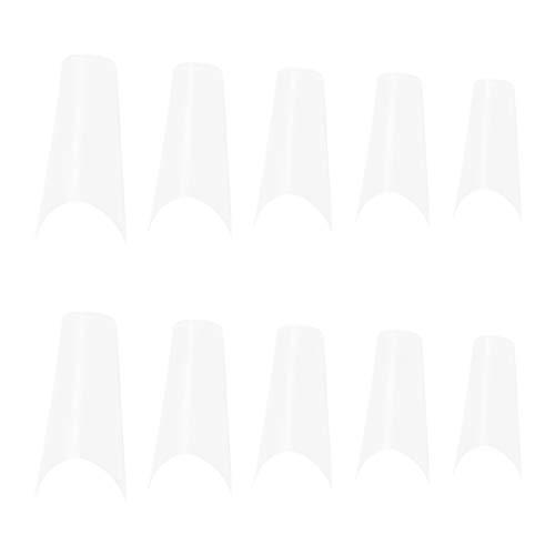 Pixnor 500 Piezas Uñas Postizas en Forma de Bailarina Uñas Manicura Arte Uñas Cubiertas Diy Uñas Extensiones de Uñas para Mujeres Niñas