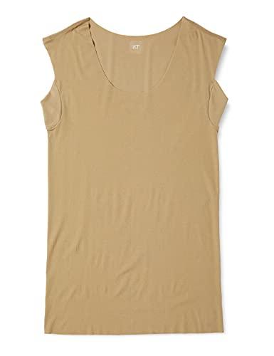 [グンゼ] インナーシャツ YG Tシャツ専用 in.T(インティー) CUT OFFシリーズ クルーネックスリーブレス 汗取りパッド付 メンズ クリアベージュ 日本 LL (日本サイズ2L相当)