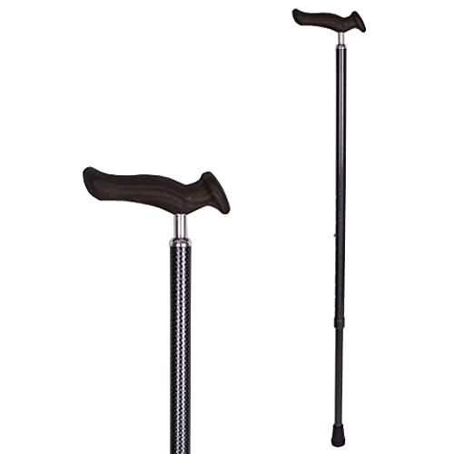 Carex Health Brands Comfort Walking Cane with an Ergonomic Extra Comfortable Grip, Dark Gray