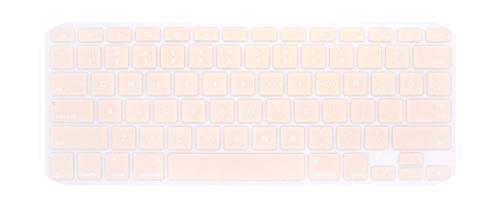 Silicone Keyboard Cover Protector Skin For Macbook Pro For Mac 13 15 Air 13 Soft keyboard stickers 9 Colors-Pink Air 11-