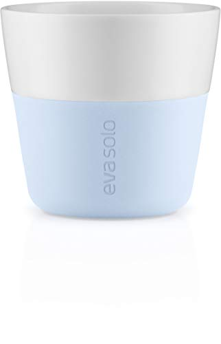 EVA SOLO | 2 Lungo tumbler | Porcelain with a Silicone Grip | Soft blue