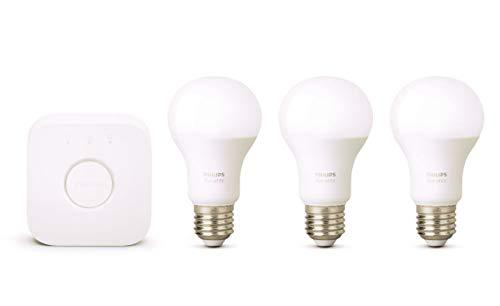 Philips Hue Kit de Démarrage 3 Ampoules White E27 + Pont de Connexion