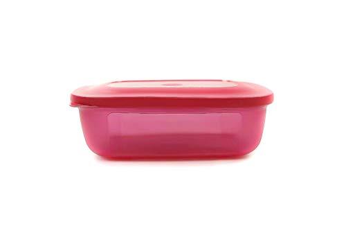 Tupperware Kühlschrank 500 ml eckig pink Frische-Turm Dose Behälter