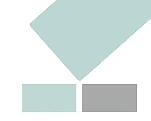 LYQCZ Alfombrilla De Escritorio,Protector Mesa Escritorio Grande, Estera Oficina Alfombrilla De Escritorio Protector Escritorio,Cuero PU Impermeable,Verde Claro+Gris(Size:45x170cm/17.72x66.93in)