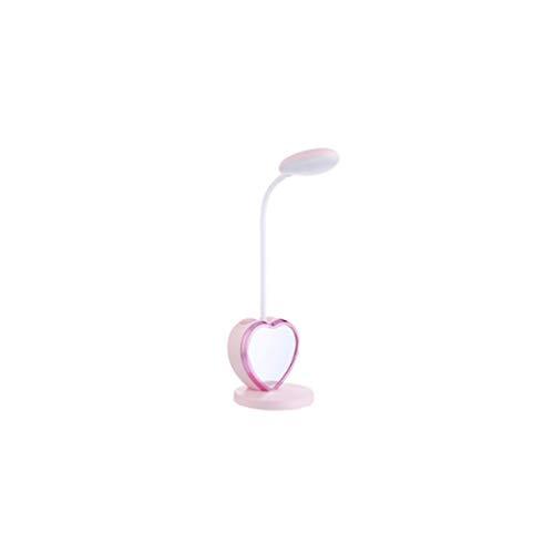 ZHIJINGKEJI Multi-función de lámpara de mesa, Creative almacenamiento titular de la pluma LED de ojos lámpara de lectura de Aprendizaje de la lámpara plegable (Color : Pink)