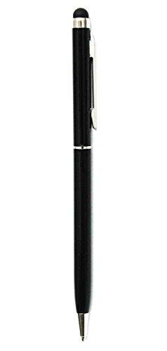 Deet - Lápiz capacitivo negro para pantalla táctil con giro para usar Biro bolígrafo de escritura para iPhone 5S, 6, 6S, 6S Plus y Samsung Galaxy J1, J5, A3, A5, S4, S5, S6
