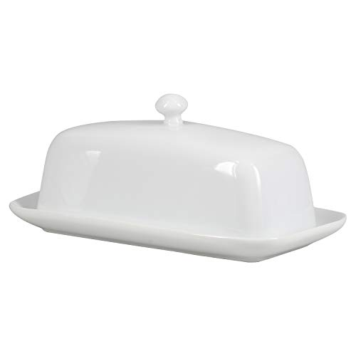 BIA Cordon Bleu Covered Butter Dish with Knob Lid, White