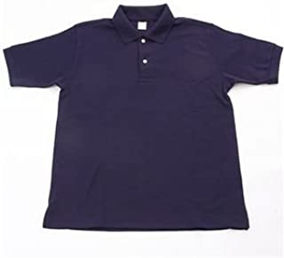ドライメッシュアクティブ半袖ポロシャツ ネイビー M
